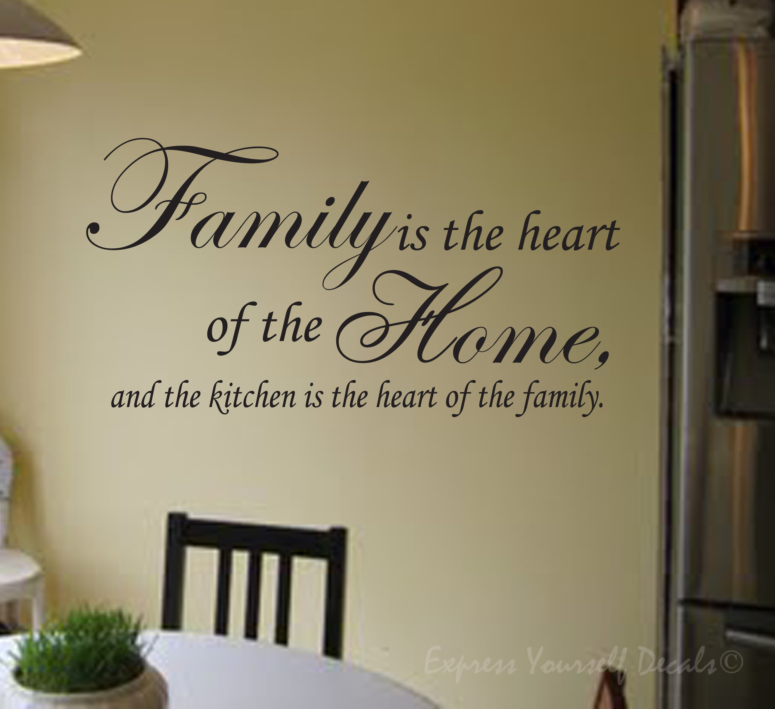 Heart-Of-The-Home Wall Art Family is the heart of the