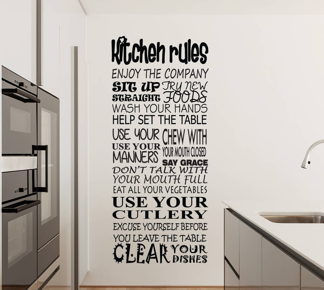 Kitchen Rules Wall Decal Sticker Wall Decal Wall Art Decal