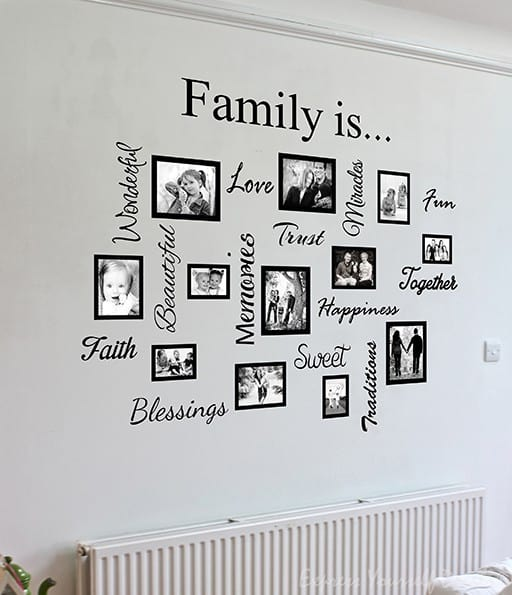 Family Word Quote Gallery Wall Wall Art Decal Sticker