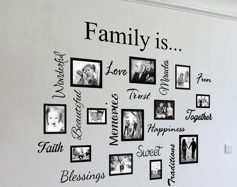 Photo Frame Family Tree Decal Wall Decals Wall Decor: Photo Gallery Wall