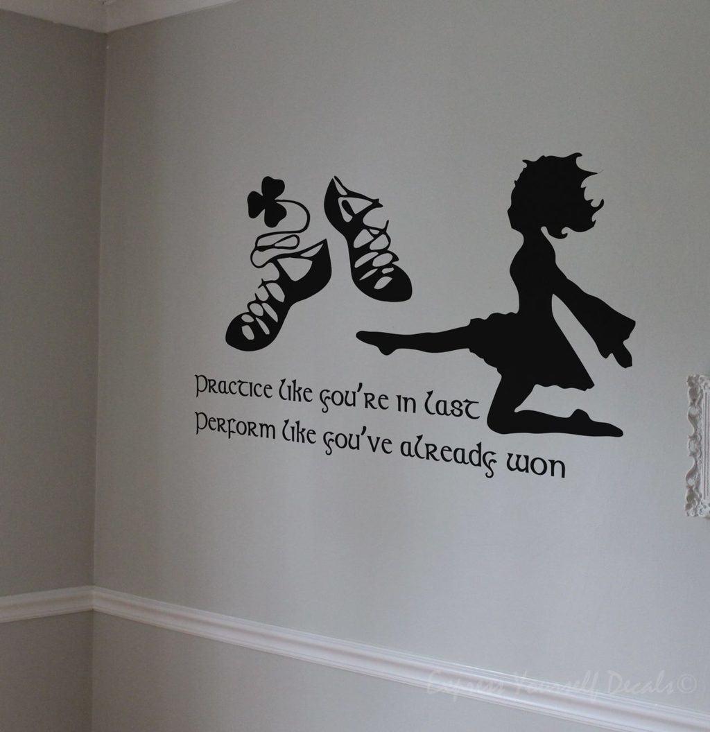 Wall Art Stickers For Bathroom Irish Dance Wall Art Decal Wall Decals Wall Stickers