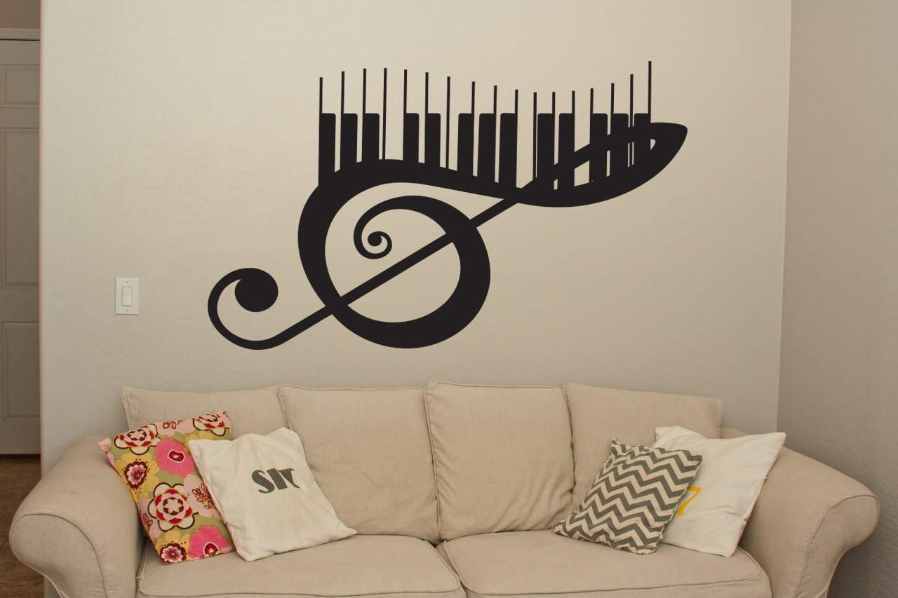 musical keyboard wall art decal wall decal wall art. Black Bedroom Furniture Sets. Home Design Ideas