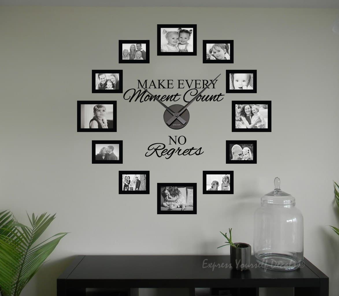 No regrets picture frame clock