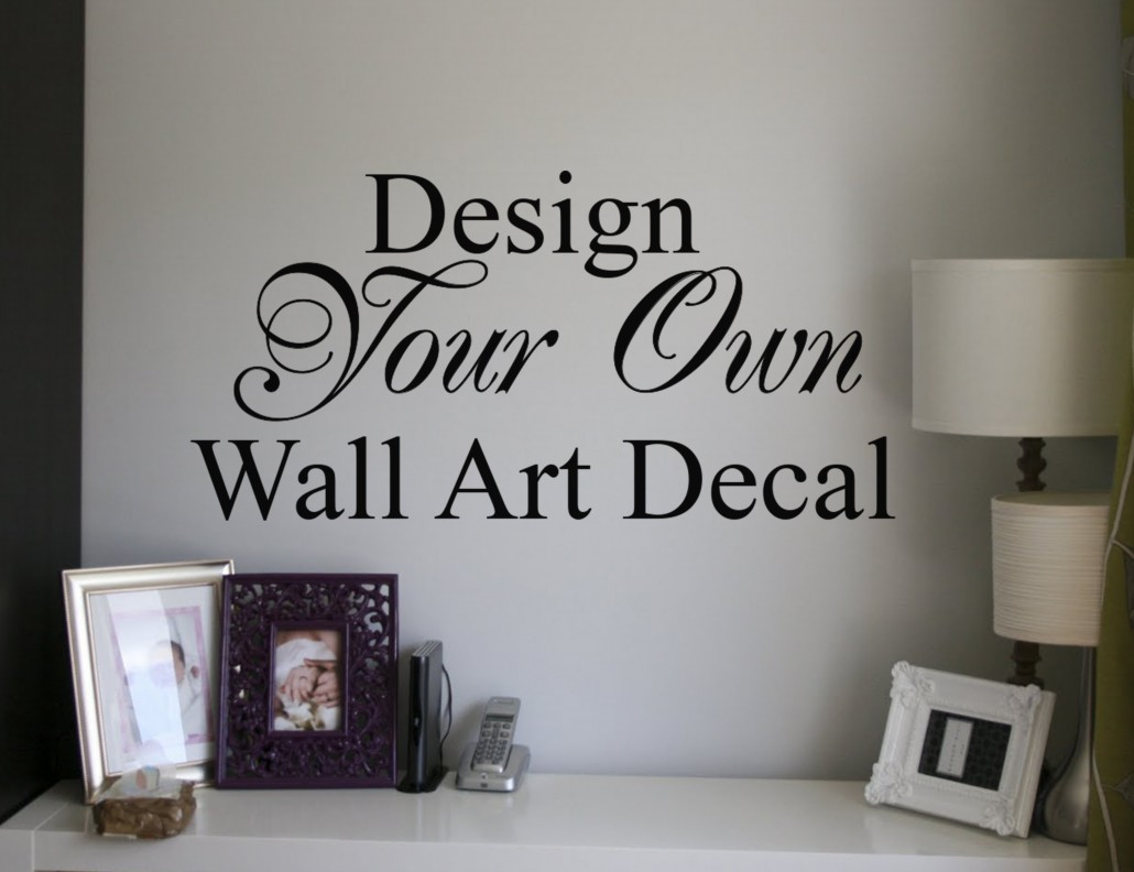 Custom wall decal design your own decal tool for Design your own wall mural