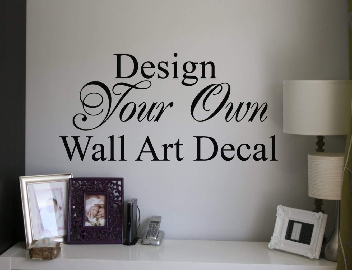 Design your own quote custom wall art decal sticker for Create your own wall mural photo