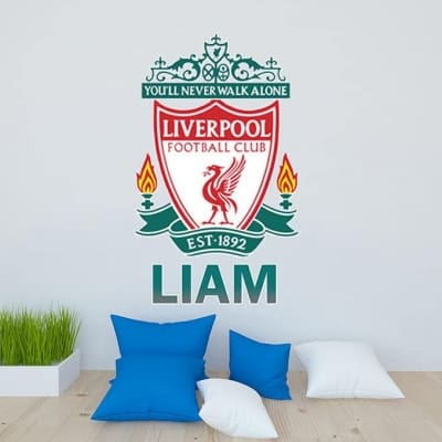 you ll never walk alone liverpool wall art decal items similar to liver bird liverpool fc wall decal