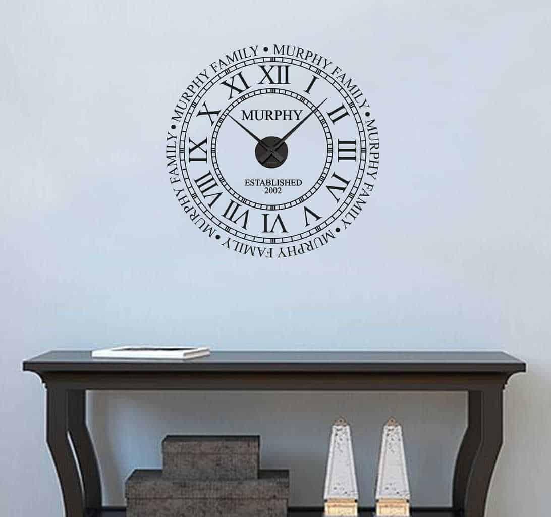 Personalised family name clock | wall clocks
