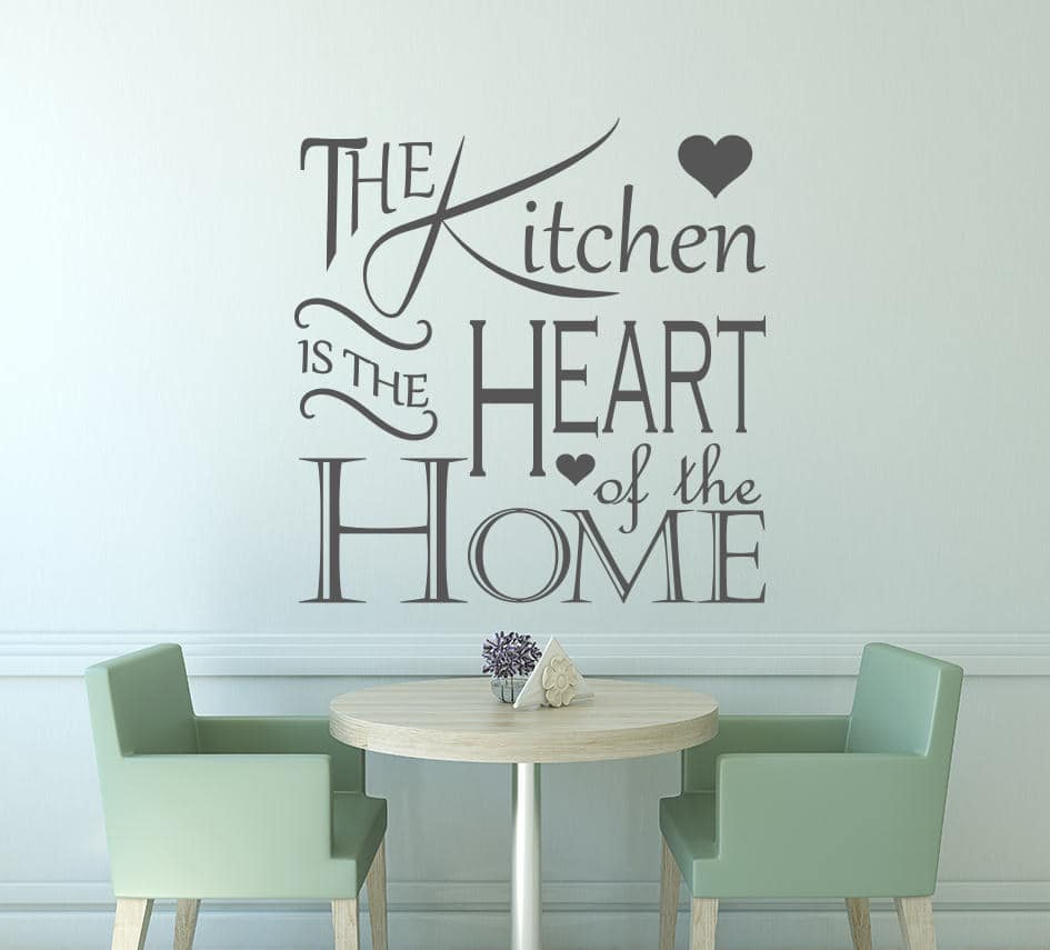 the kitchen is the heart of the home decal kitchen decals