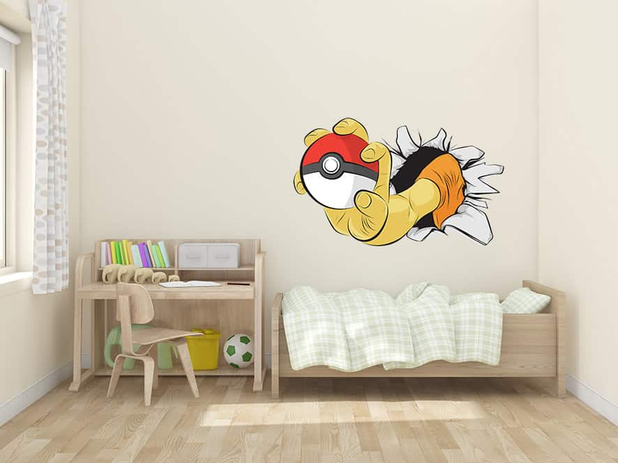 add this pokemon go hand wall decal sticker to your walls today. Black Bedroom Furniture Sets. Home Design Ideas