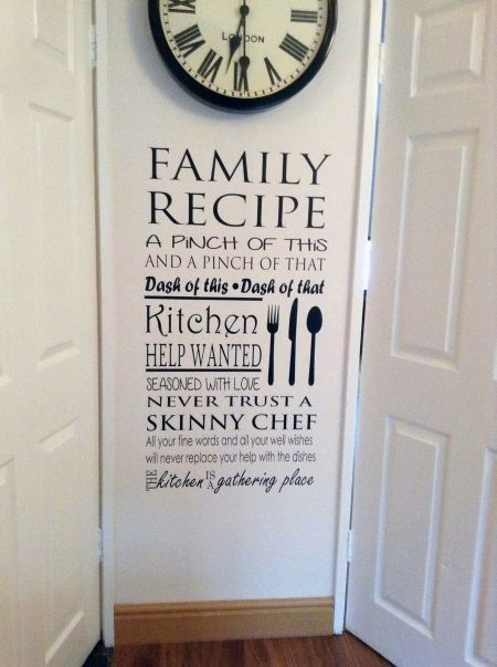 Family Recipe wall decal