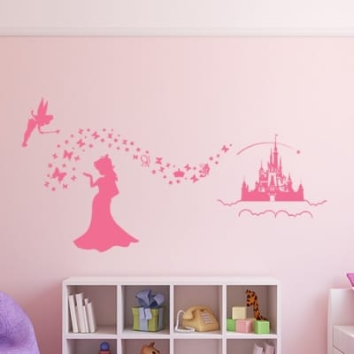 Magic princess wall decal sticker