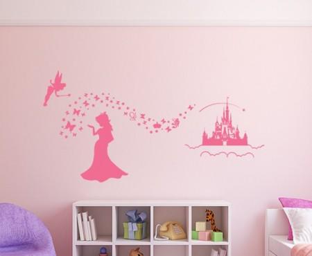 Magic princess wall decal sticker