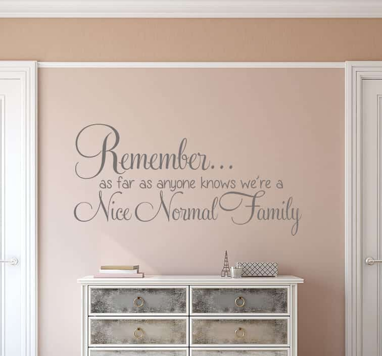 Nice normal family wall decal