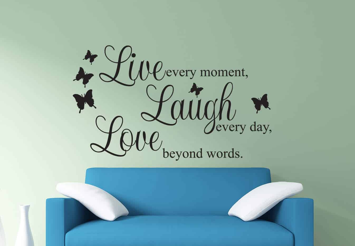 Genial Live Laugh Love Wall Decal