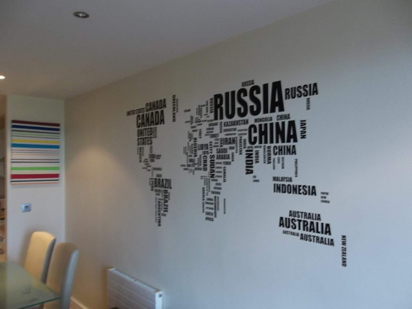 World word map wall decal sticker world map wall decal world word map wall decal sticker gumiabroncs Choice Image