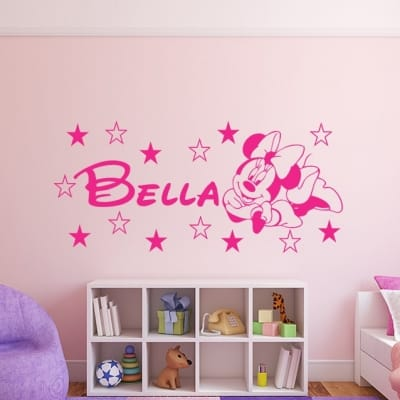 Personalised Minnie mouse wall decal sticker