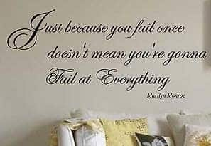 Marilyn Monroe quote wall decal sticker