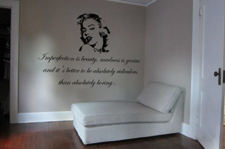 Marilyn Monroe Imperfection wall art decal