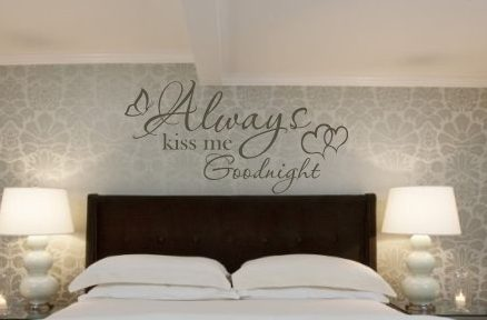 Always Kiss Me Goodnight Wall Decal Sticker Part 45