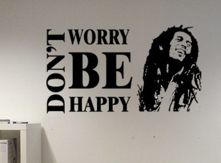 Bob Marley don't worry be happy wall decal sticker