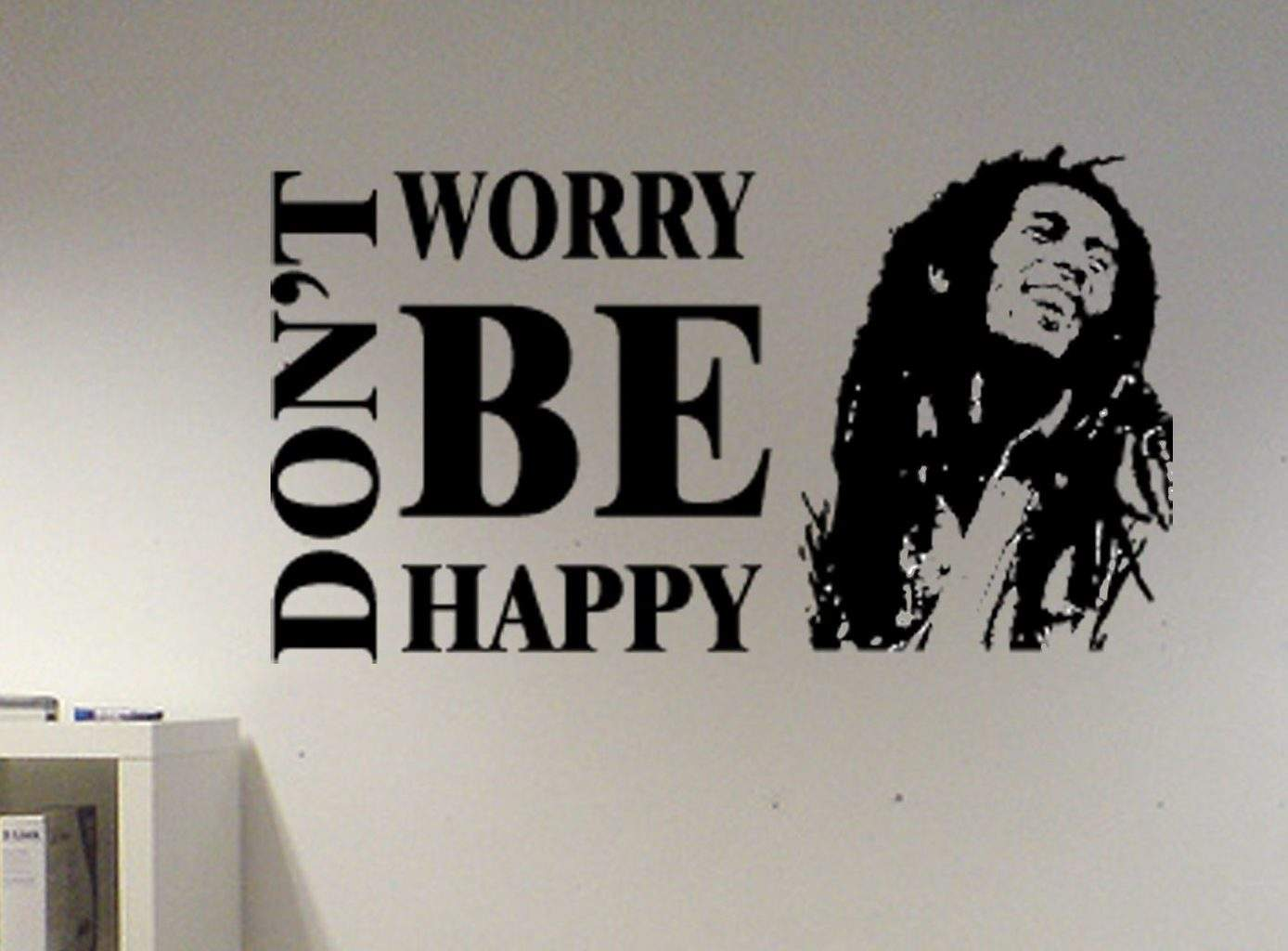 bob marley don t worry be happy wall decal sticker