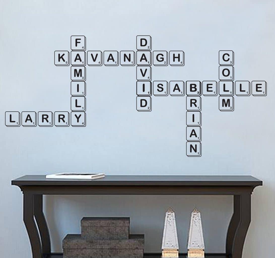 Family Scrabble wall art decal sticker