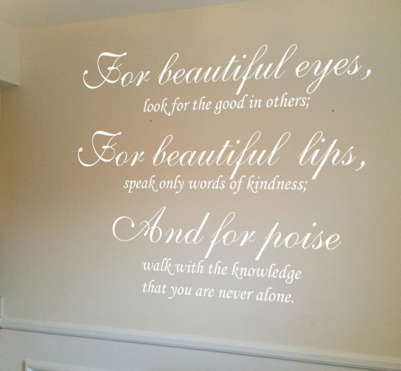 Audrey Hepburn Beautiful eyes wall art decal | wall art | wall decals | wall stickers | vinyl graphics | Express Yourself Decals |