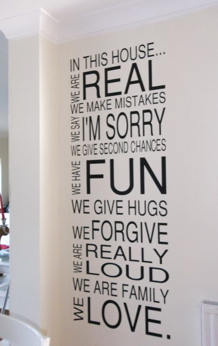 Family Rules decal