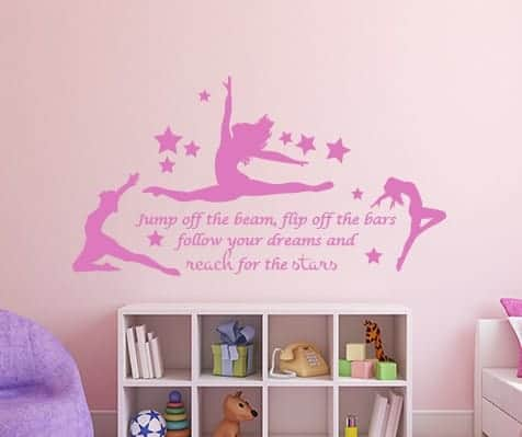 Jump the Beam Wall Decal