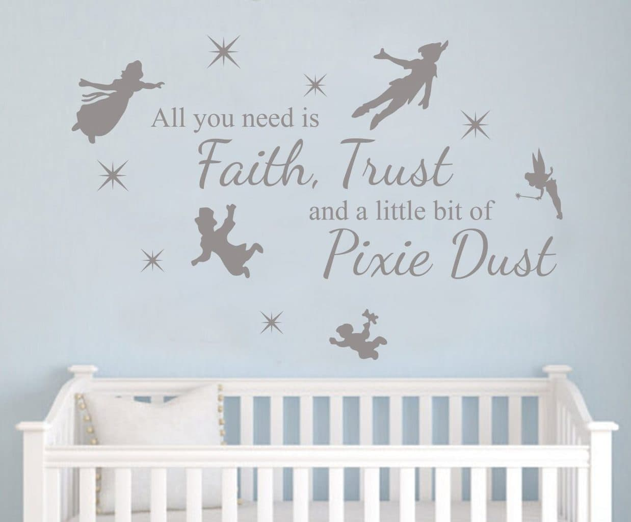 Peter Pan Pixie Dust Decal Wall Decal Sticker Wall Decals Wall