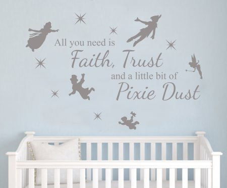 Peter Pan pixie dust decal wall decal sticker