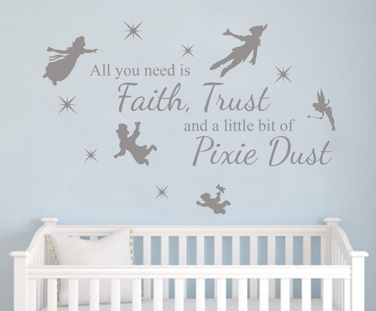 get magical peter pan pixie wall art peter pan pixie dust decal wall decal sticker