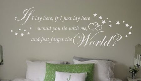 Snow patrol If I lay here wall art decal, If I Just Lay Here Wall Decal, snow patrol wall sticker, bedroom wall decal, wall decals ireland, wall quotes for bedroom, chasing cars wall decal sticker
