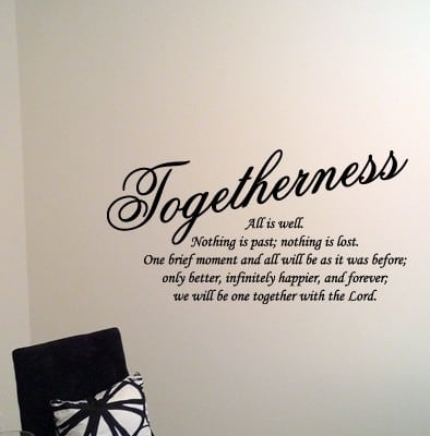 Togetherness wall decal sticker