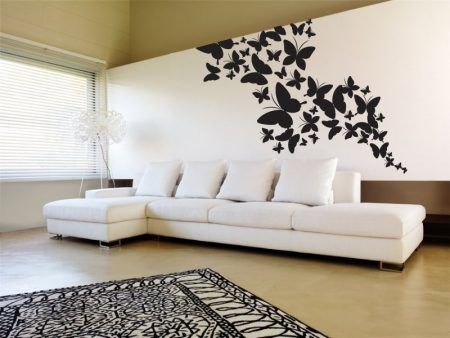 Butterfly cluster wall art decal sticker