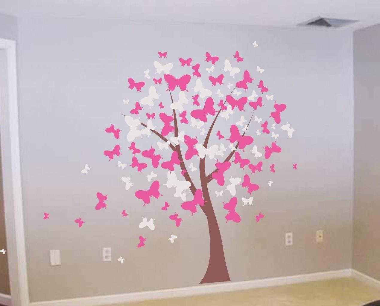 Butterfly tree wall decal sticker