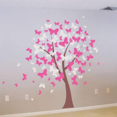 Butterfly tree wall decal sticker
