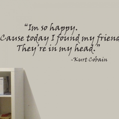 Curt Kobain quote wall decal