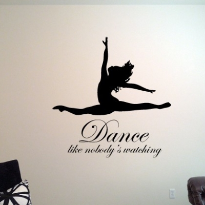 Dance like nobody's watching wall decal
