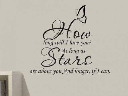 How long will I love you? – wall art decal