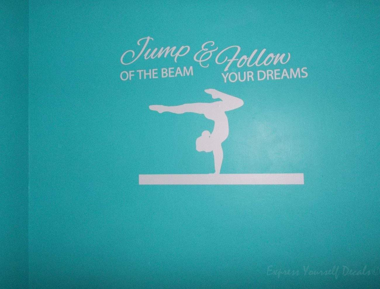 Jump the beam wall art decal