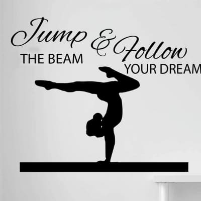 Jump the beam wall decal sticker