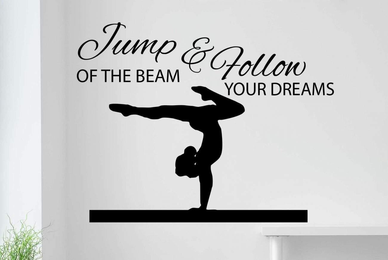 Jump the beam wall decal sticker