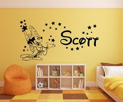 Mickey mouse fantasia wall decal sticker
