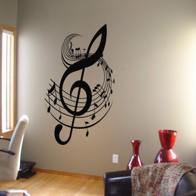 Music Note wall art decal