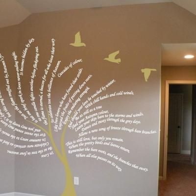 Poem tree wall art decal