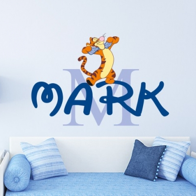 Tiger personalised wall art decal