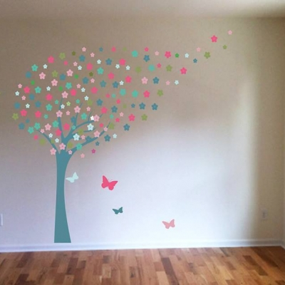 Blossom tree wall art decal sticker