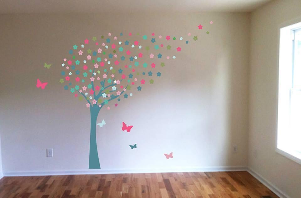 Blossom tree wall art decal sticker