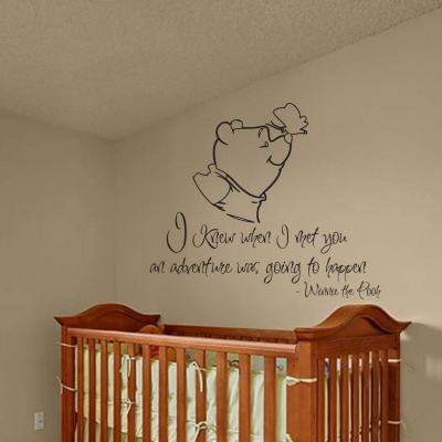 Winnie the pooh adventure wall decal sticker